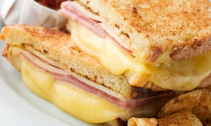 Grilled Cheese And Drinks At Say Cheez (up To 43% Off). Two Options Available.