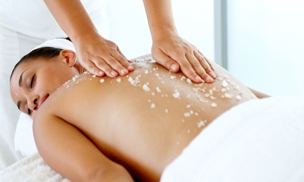 $75 for a Spa Package with Swedish Massage and Body Scrub at Diamante Azul Day Spa & Salon ($150 Value)