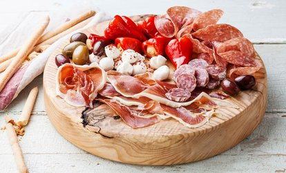 image for Charcuterie or Vegetarian Board with Garlic Bread and Glass of Prosecco for Two or Four at Momento (Up to 41% Off)