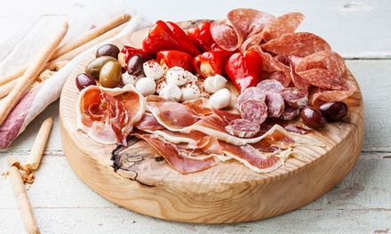 Charcuterie or Vegetarian Board with Garlic Bread and Glass of Prosecco for Two or Four at Momento (Up to 41% Off)