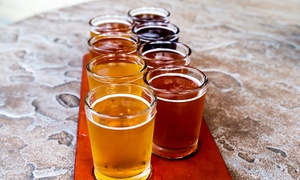 Brew Rebellion: Beer Flights with Souvenir Limited-Edition Empty Growlers for Two or Four at Brew Rebellion (59% Off)