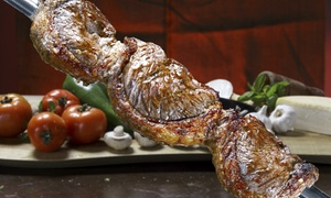 Pikanha's Brazilian Steak House: Rodizion Lunch or Dinner for Two at Pikanha's Brazilian Steak House (Up to 45% Off). Three Options Available.