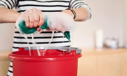 [One or Three Three-Hour Housecleaning Sessions from The Scrubbing Company (Up to 62% Off) Image]