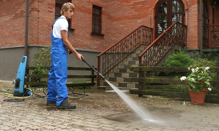 J & E Cleaning Services - Washington DC: Power Washing for Driveway & Walkway, One-Story Deck, or All Three from J & E Cleaning Services (Up to 82% Off)