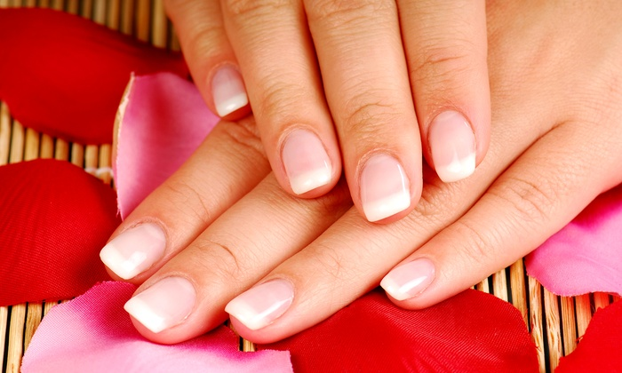 Ivy Nails & Spa - Parkside: $25 for Full Set of Acrylic French Tips with Gel Top Coat at Ivy Nails & Spa ($40 Value)