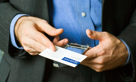 $9 for $18 Groupon — BizCard Xpress