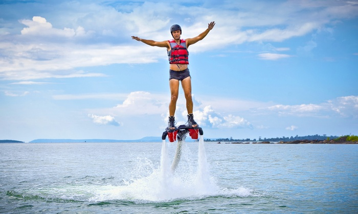 Ironman Flyboard - Oronoco: $189 for a One-Hour Flyboarding Session for Up to Four People at Ironman Flyboard ($300 Value)
