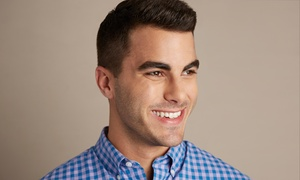 Illusions Beauty Salon: Men's Haircut with Wash and Optional Style and Shave at Illusions Beauty Salon (Up to 53% Off)