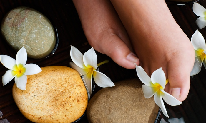 Neo Pinot Spa - Neo Pinot Spa: One or TwoDeluxeHot Stone Pedicures with Sea Salt Scrub and 15-Minute Foot Massage at Neo Pinot Spa(48% Off)