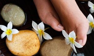 Neo Pinot Spa: One or Two Deluxe Hot Stone Pedicures with Sea Salt Scrub and 15-Minute Foot Massage at Neo Pinot Spa (48% Off)