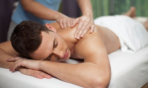 Studio One Eleven: $45 for a Men's Spa Package with Haircut, Hot Towels, and Massage at Studio One Eleven ($99 Value)