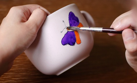 $14 for $25 Worth of Paint-Your-Own Pottery at Glazed and Confused