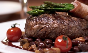 Cafe West: Seafood and Steaks for Dinner or Lunch at Cafe West (Up to 48% Off). Two Options Available.