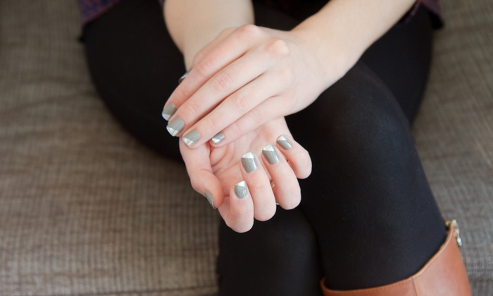 Fancy Nails Spa - Tulsa: Organic BCL Manicure or Pedicure at Fancy Nails Spa (Up to 58% Off)
