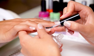 Sandy Smith at Lather & Rinse Boutique Salon: Full Set of Gel Polish Nails or Fills from Sandy Smith at Lather & Rinse Boutique Salon (Up to 66% Off)