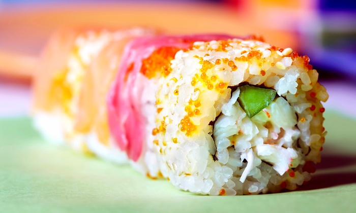 Kyjo's - Troutman: Kyjo Plates with Volcano Rolls for Two or Four, Meal for Two, or Delivery or Take-Out at Kyjo's (Up to 49% Off)