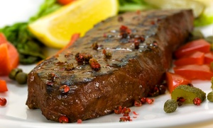 Peppers Restaurant: Upscale Steak, Seafood, and Burgers for Two or Four at Peppers Restaurant (20% Off)