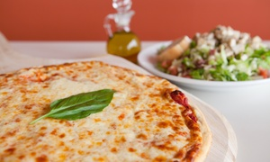 Andy's Pizza & Subs: Pizza and Sides or Tailgate Package with Pizza, Pop, and Cheesy Bread from Andy's Pizza & Subs (Up to 43% Off)