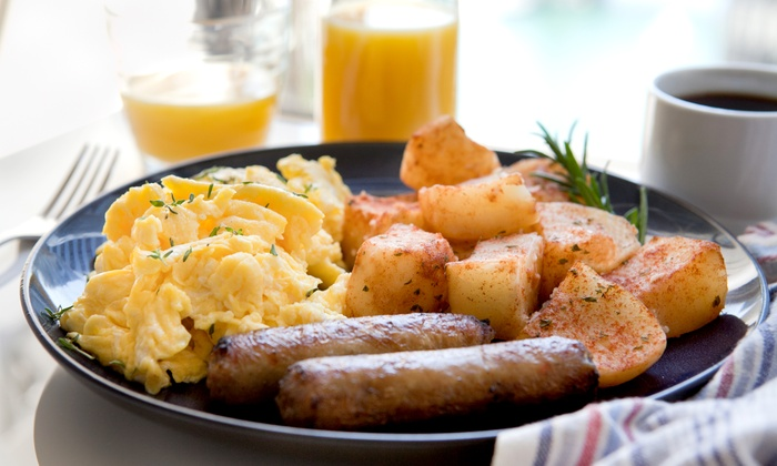 Basic Cafe - Basic Cafe: $25 for Brunch for Two with Entrees and Mimosas at Basic Cafe ($42 Value)