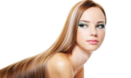 Keratin Treatment or Haircut and Full Highlights at Salon DeMarzano (Up to 60% Off)