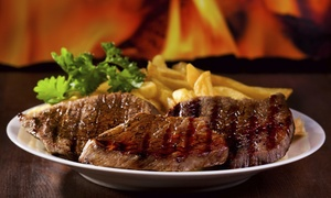 $22 For $40 Worth Of Steak And Seafood Food At Opa Opa Steakhouse And Brewery