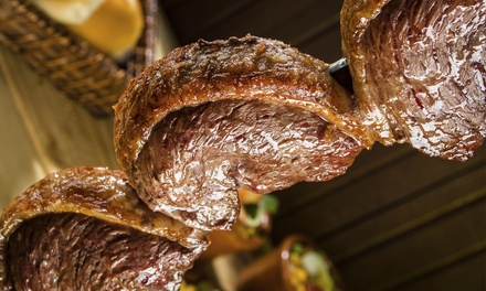 $63 for All-You-Can-Eat Rodizio Dinner for Two with Wine at Yolie's Brazilian Steakhouse ($93.98 Value)