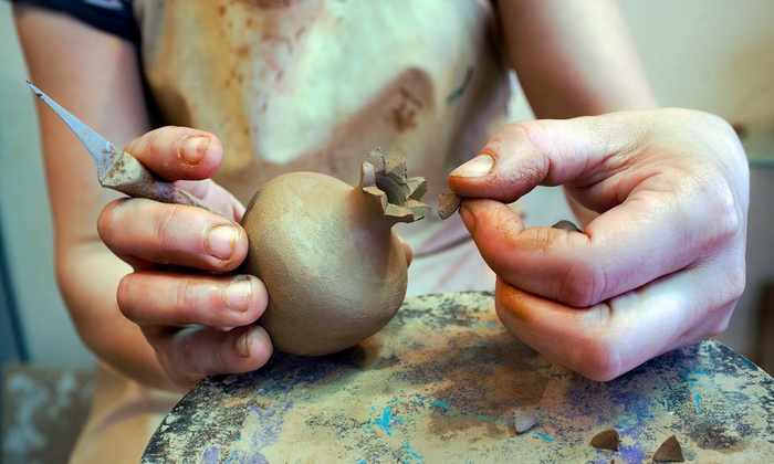 Get Dirty Ceramics - Fountain Square: One-Hour Pottery Class for One, Two, or Four at Get Dirty Ceramics (Up to 40% Off)