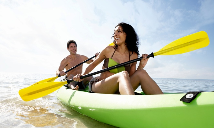 Salty Sam's Waterfront Adventures - Fort Myers Beach: Half-Day Single or Double Kayak Rental at Salty Sam's Waterfront Adventures (Up to 50% Off)