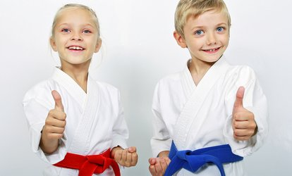 10 or 20 Classes with Initiation and Uniform at <strong>Kids</strong> Love Martial Arts (Up to 91% Off)