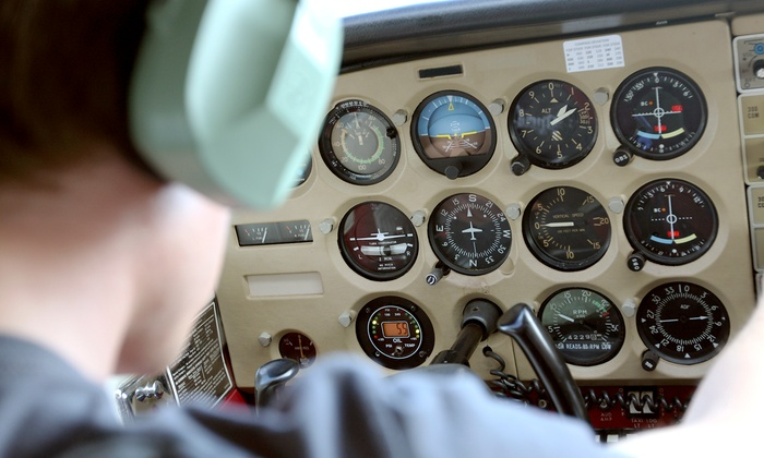 Fly Bay Area - San Carlos: One-Hour Flight Lesson or Starter Pilot Package from Fly Bay Area (Up to 58% Off)