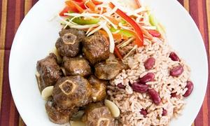 Half Way Tree Authentic Jamaican Cuisine: Jamaican Food for Two or More at Half Way Tree Authentic Jamaican Cuisine (Up to 45% Off). 2 Options Available.