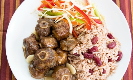 Jamaican Food for Two or More at Half Way Tree Authentic Jamaican Cuisine (Up to 45% Off). 2 Options Available.