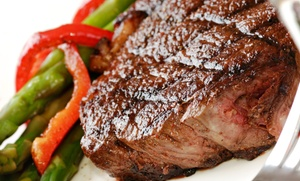 Cast Iron Steakhouse: $15 for $25 Worth of Steak, Seafood, and American Fare for Two at Cast Iron Steak House