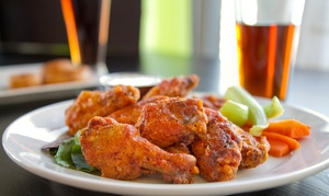 $12 For Beer And Wings, Burgers, Or Sandwiches At The Wing Lady ($20.99 Value)
