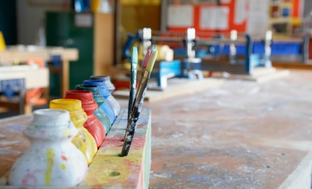 Pottery-, Glass-, or Canvas-Painting Session for Two or Four at Art & Soul (40% Off)