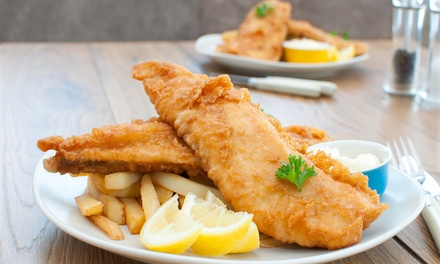 Fish and Chips with Mushy Peas, Tartar Sauce and a Pot of Tea for Two at The Waterford Arms (50% Off)