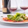 Menu tipico trentino con dolce e vino