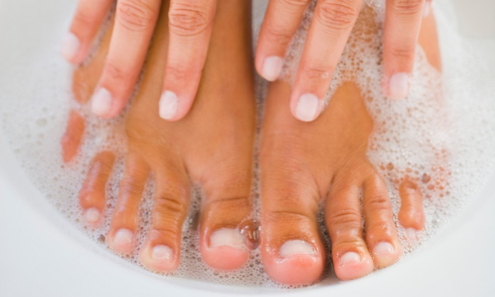 Marcy at Essentials Salon and Day Spa - Marcy at Essentials Salon and Day Spa: One Gel Manicure and Regular Pedicure with Marcy at Essentials Salon and Day Spa (53% Off)