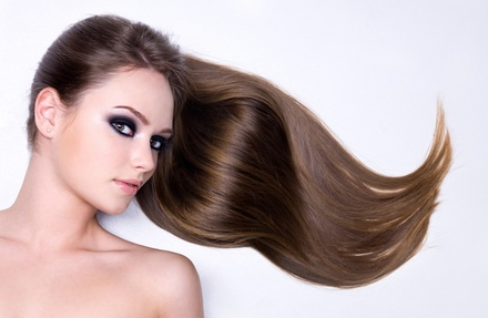Relaxer or Keratin or Flat-Iron Service at Indigo Hair Innovations (Up to 64% Off)