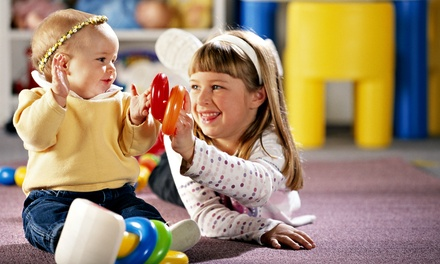 $65 for a Kids' Indoor Play Package with Three Enrichment Classes and Five Playspace Passes ($246 Value)