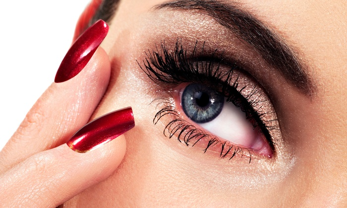 Eyestylist by Nesee - Lake Magdalene: Cluster Eyelash Extensions with One, Three, or Five Fills and a Brow Wax at Eye Stylist by Nesee (Up to 62% Off)