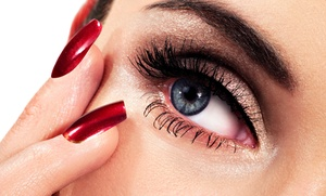 Eyestylist by Nesee: Cluster Eyelash Extensions with One, Three, or Five Fills and a Brow Wax at Eye Stylist by Nesee (Up to 62% Off)