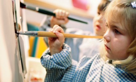90-Minute Canvas-Painting Class for One or Two Kids at Amaze Arts (Up to 50% Off)