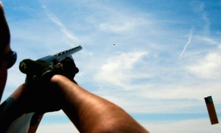 Clay-Shooting and Fishing Outing with Lunch for Two or Four at The Bourbon Lodge (54% Off)