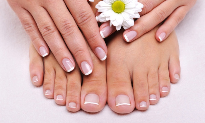 Bella Nails inside Rumors Salon and Spa - Fair Oaks: One Gel Polish Manicure with Luxury Pedicure at Bella Nails (Up to 49% Off)