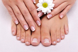 Bella Nails inside Rumors Salon and Spa: One Gel Polish Manicure with Luxury Pedicure at Bella Nails (Up to 49% Off)