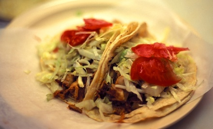 $11 for 2 Groupons, Each Good for $10 Worth of Tacos & Tortillas at Tortilleria Garcia ($20 Total Value)