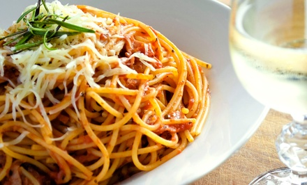 TwoCourse Italian Meal for Two with Wine on Weekdays or Weekends at Albertos Trattoria (Up to 47% Off)
