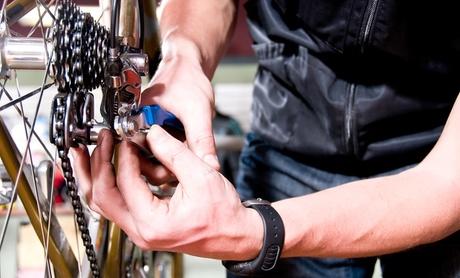 Fahrradplatten-Schnellreparatur inkl. neuem Schlauch für 1 oder 2 Reifen bei der Fahrradstation