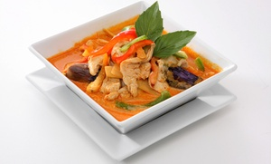 Purple Orchid Cafe & World Grocery: Thai Dinner for Two or Four or More at Purple Orchid Cafe & World Grocery (30% Off)